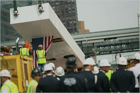 Last WTC steel column returns