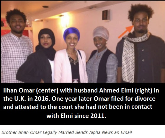 Ilhan Omar (center) with then legally married husband Ahmed Elmi (right) in 2016. Click on image to learn why this photograph matters.